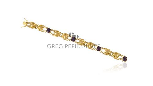 Georg Jensen 18kt Gold Bracelet 1053 Amethysts