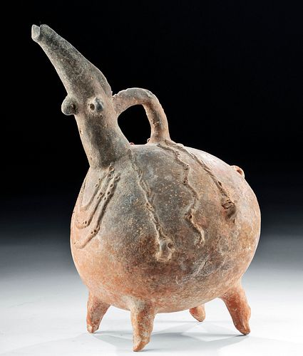 Cypriot Early Bronze Age Terracotta Vessel w/ Face