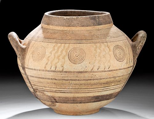Large Rounded Cypriot Polychrome Amphora