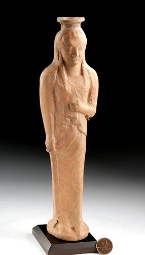 Greek Archaic Terracotta Alabastron - Female Kore w/ TL