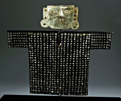 Incredible Sican 14K Gold Mask + Tunic Appliques - XRF