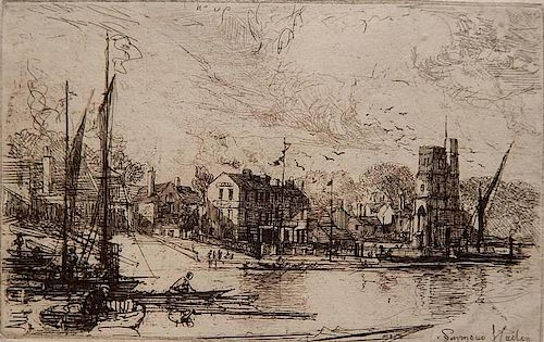 Francis Seymour Haden etching with drypoint