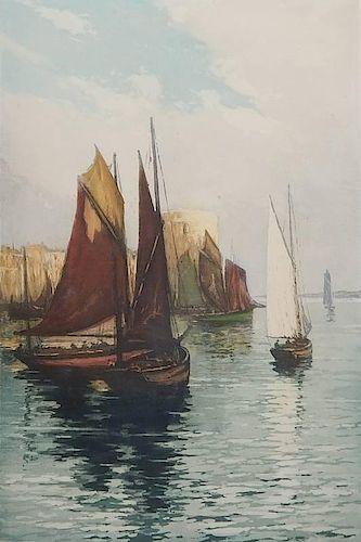 Emile Haumont aquatint