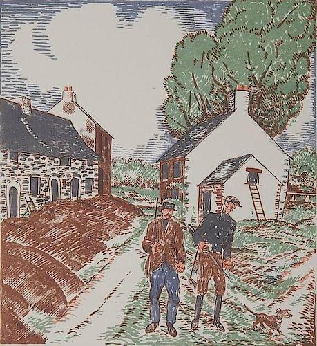 Jean Emile Laboureur lithograph