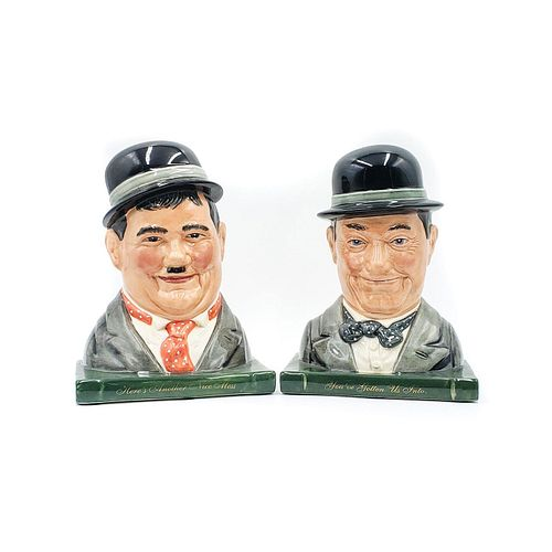 2 ROYAL DOULTON BOOKENDS, LAUREL AND HARDY