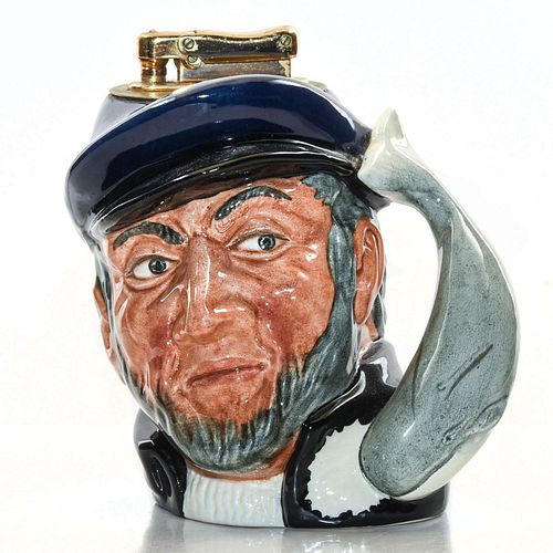 ROYAL DOULTON CHARACTER TABLE LIGHTER, CAPT. AHAB