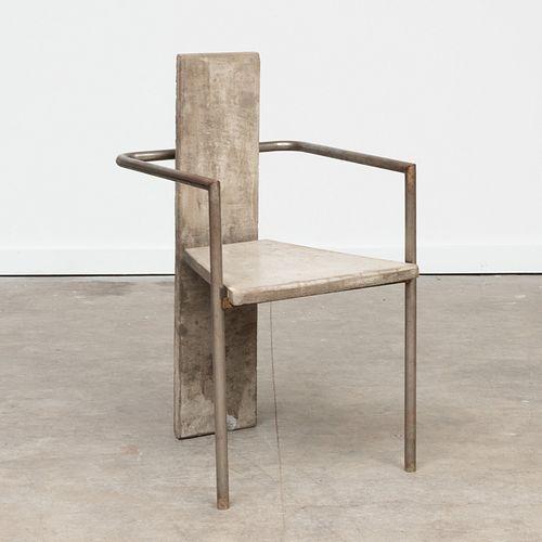 Jonas Bohlin Steel and Concrete 'Concrete' Chair, for Kallemo