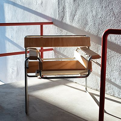 Chrome and Plywood 'Woody Wassily' Prototype Chair, After Marcel Breuer