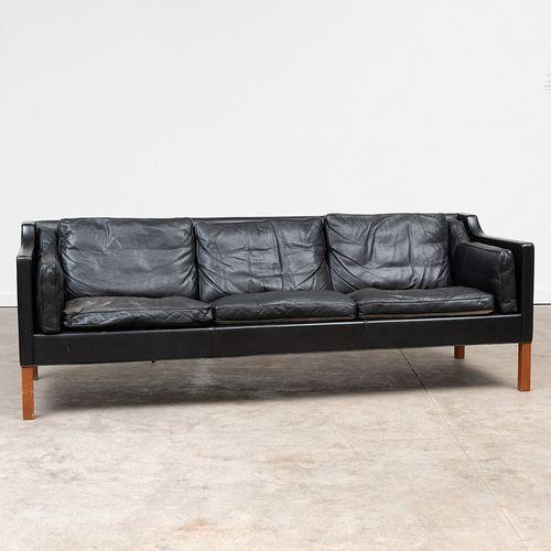 Borge Mogensen Three Seat Leather Sofa