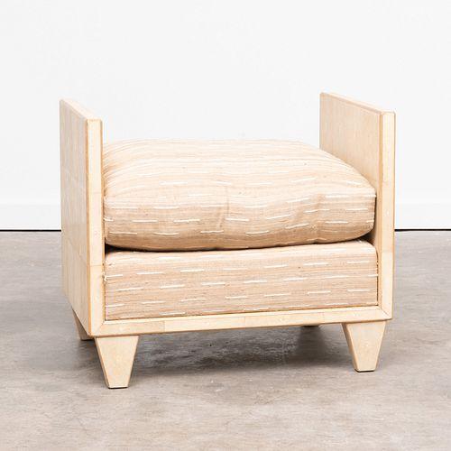 Raoul Parra Designed Shagreen Bench, by Joe Marmol