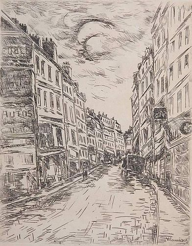 Maurice de Vlaminck etching