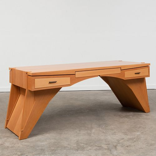 E. Weinberger and S. Schmidt Pear Wood Hollow Box Split Arch Desk