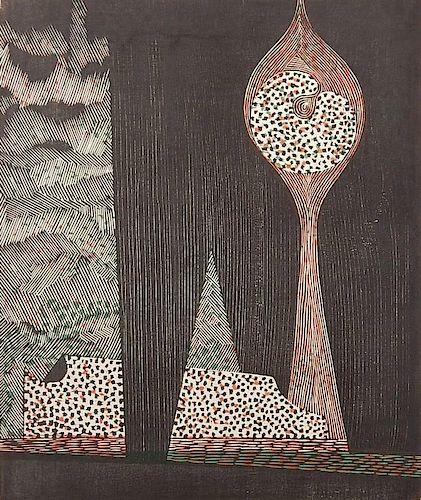 Masaji Yoshida woodcut