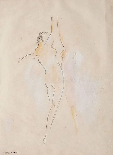 Warren Davis pastel and pencil