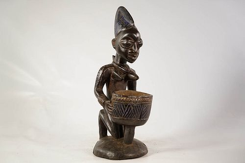 Yoruba 'Cup Bearer' Offering Bowl