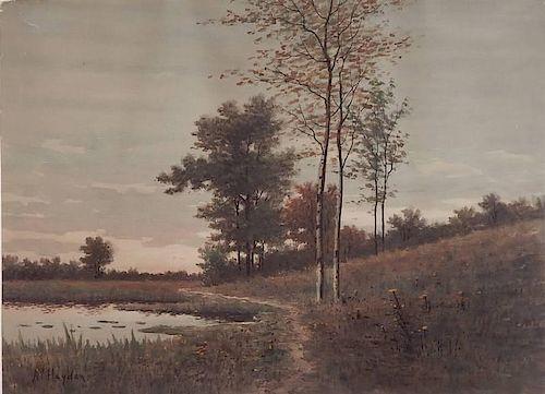 A. C. Hayden watercolor