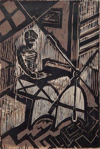 Wayne Hilburn woodcut