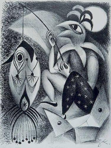 Zena Kavin lithograph