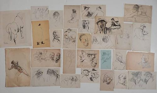 Henry G. Keller 27 graphite sketches