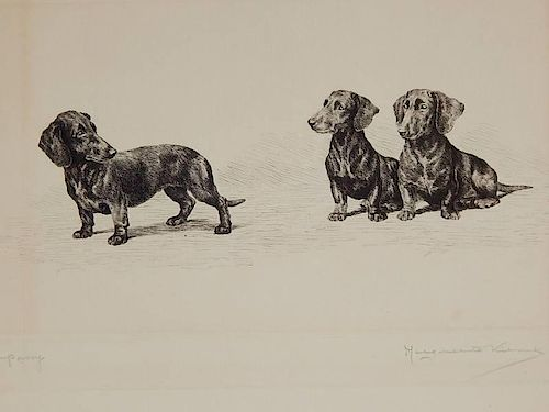 Marguerite Kirmse etching