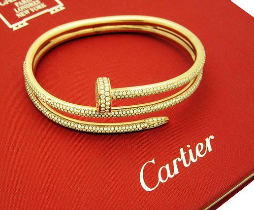 Cartier JUSTE UN CLOU PINK GOLD DIAMOND BRACELET