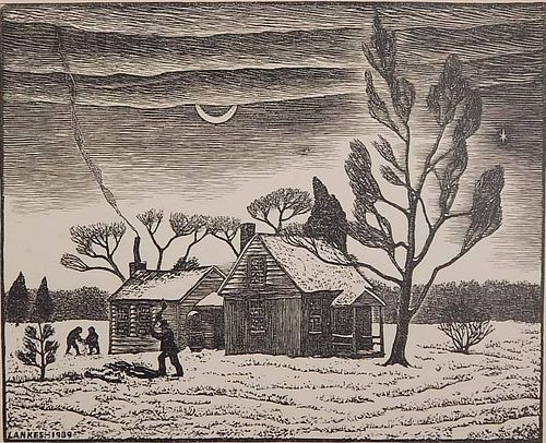 Julius J. Lankes wood engraving