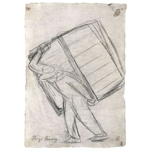 """DIEGO RIVERA, Untitled, Signed, Graphite pencil on Japanese paper, 15.3 x 10.6"""" (39 x 27 cm)"""