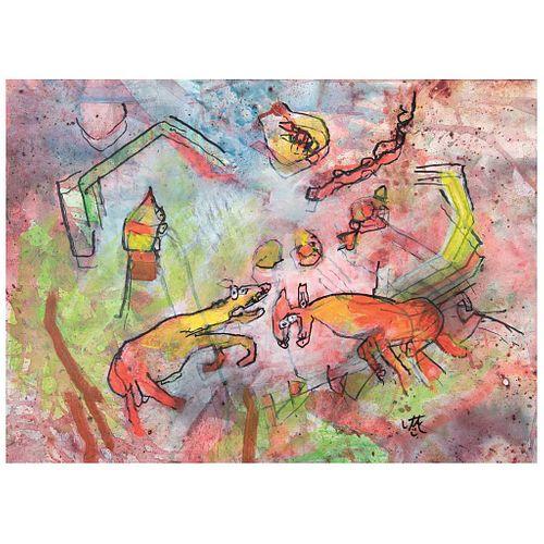 "ROBERTO MATTA, Romboloso, 2002, Signed, Acrylic on canvas, 19.2 x 26.5"" (49 x 67.5 cm), w/certificate"