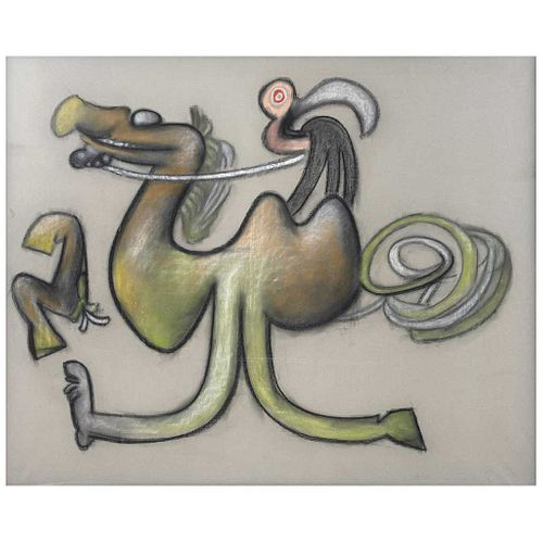 """ROBERTO MATTA, El caballazzo, 1974, Unsigned, Pastel on paper, 48.8 x 60.6"""" (124 x 154 cm), w/certificate"""