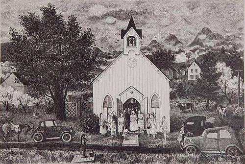 Doris Lee lithograph