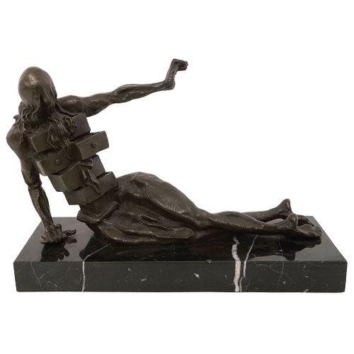 "SALVADOR DALÍ, Gabinete antropomórfico, Signed, Bronze scultpure on marble base, 8.6 x 12 x 4.3"" (22 x 30 x 11 cm), w/purchase receipt"
