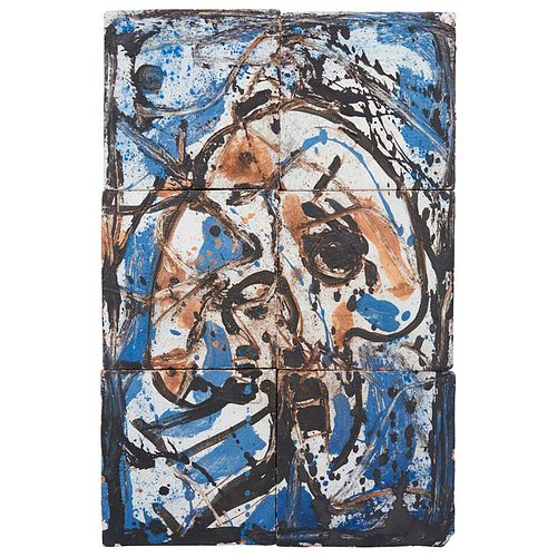 """SERGIO HERNÁNDEZ, Untitled, 2011, Unsigned, Ceramic mosaic in iron frame, 30 x 20 x 2.1"""" (76.5 X 51 X 5.5 cm), RECOVERY PRICE"""