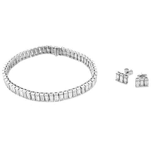 Diamond and Platinum Bracelet