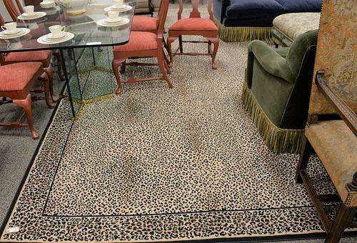 "Stark custom leopard print carpet. 14' 5"" x 18' 4"". Provenance: Estate of William and Teresa Patton, Lake Ave Greenwich, CT"