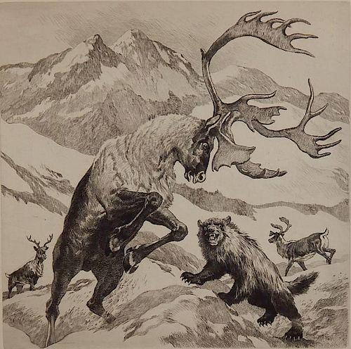 Reinhold H. Palenske etching