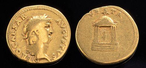 Roman Impreial Gold Nero Aureus - Rare to Find!