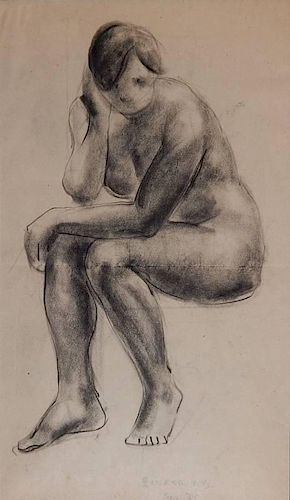 Clyde Singer charcoal