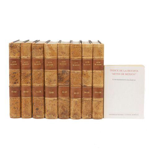 REVISTAS ARTES DE MÉXICO. Segunda Época. Año XII - XIV. Números del 61 al 104, en ocho volumenes. Algunos Títulos:<R...