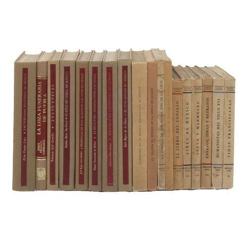 Colección Imprenta Universitaria / Biblioteca del Estudiante Universitario. Títulos: -Cónicas de la Conquista. -Mi...