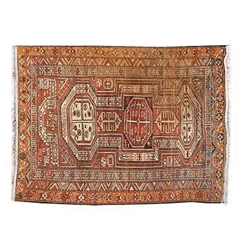 Tapete. Afganistán. Siglo XX. Estilo Belouch. Elaborado en fibras de lana y algodón. 150 x 100 cm.