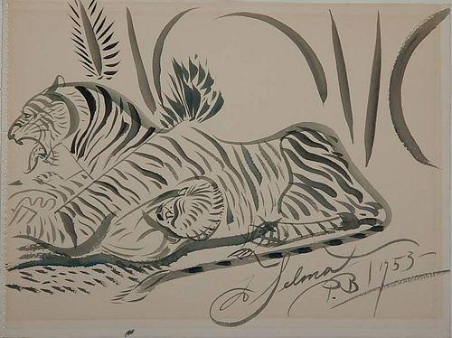 Paul B. Travis watercolor