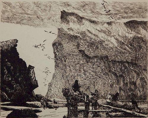 Frank Wilcox etching