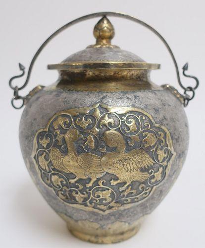 Silver and Gold Water Pot, Xiangtong Tang Dyn Mark