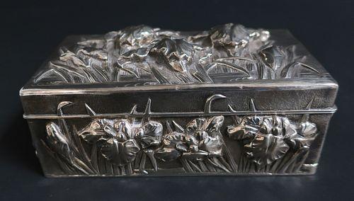 Japanese Sterling Silver Rectangular Box