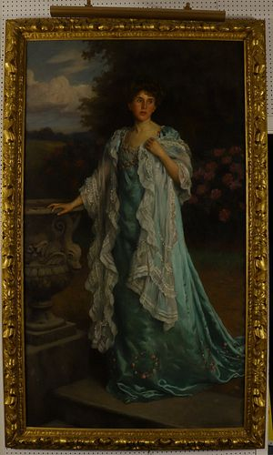Charles Haigh-Wood, Portrait of a Lady, O/C