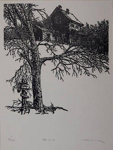 Frank Eckmair woodcut