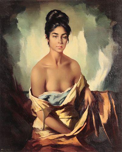 Domingo Huetos - Semi Nude in Elegance