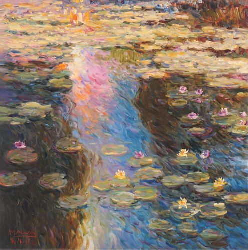 MALVA - Reflective Hues (Lily Pond)
