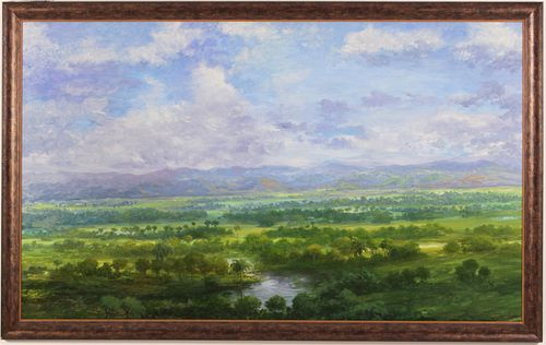 Virgilio Patino, Large Verdant Landscape