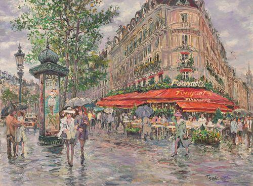 Val Tsar - 'Romance In The Rain Le Fouquet Cafe'